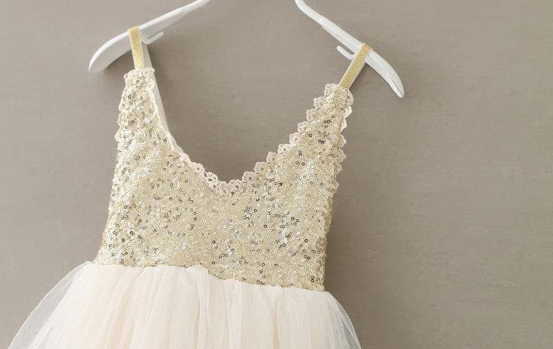 18cc1122b1 Letnie dziecko dziewczyny cekiny Tutu sukienka złoto dzieci koronki tiul  urodziny wesele księżniczka sukienki dla małych dziewczynek ubrania dla  dzieci w ...