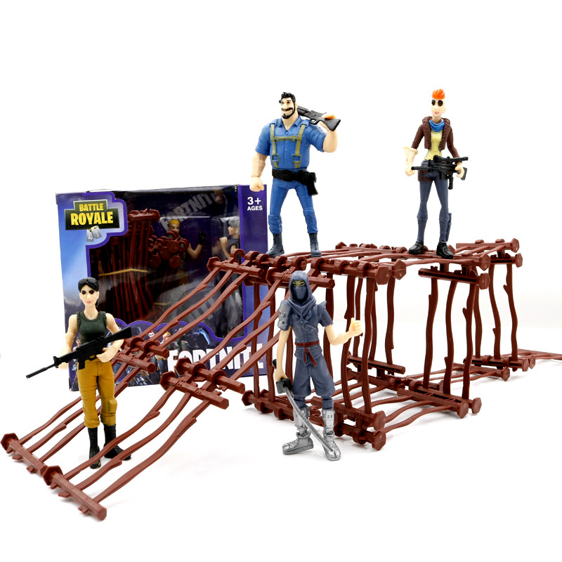 11.5cm fortnited enfant Action Figures Fortnight Battle Royale PVC Characters + Weapons Collection Model Toys for children Gift