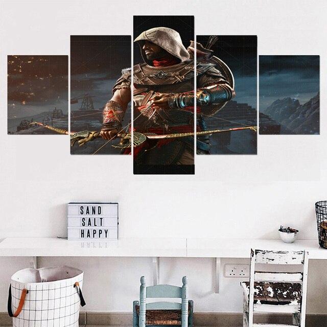 Decor Canvas Art HD Poster Movie 5 Pieces/Pcs Assassins Creed Role ...