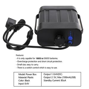Image 5 - Portable Waterproof 2*26650 Bicycle Light Battery Case Cycling Lamp External Power Battery Holder Storage Box +converter