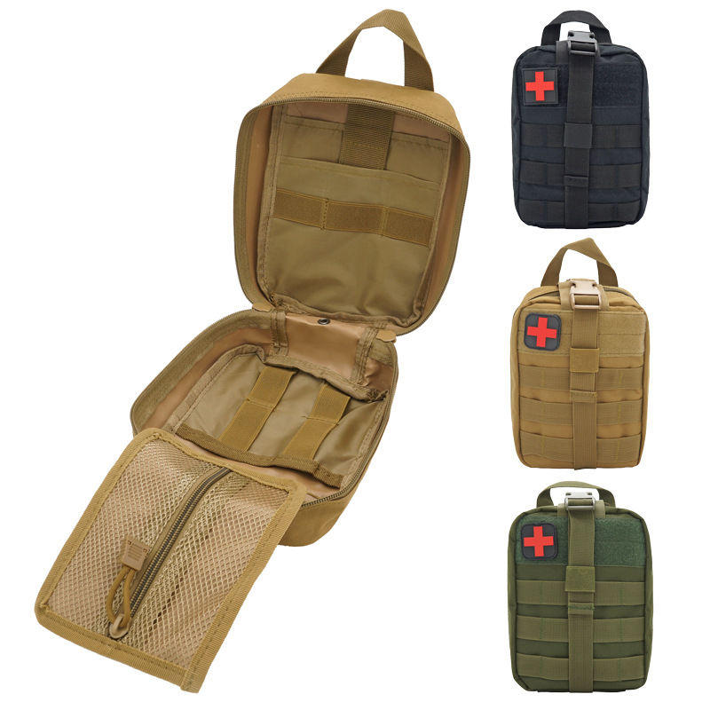 Outdoor Utility Tactical Survival Bag Pouch Medical First Aid Kit Bag Molle Medical EMT Emergency Military Hunting Package