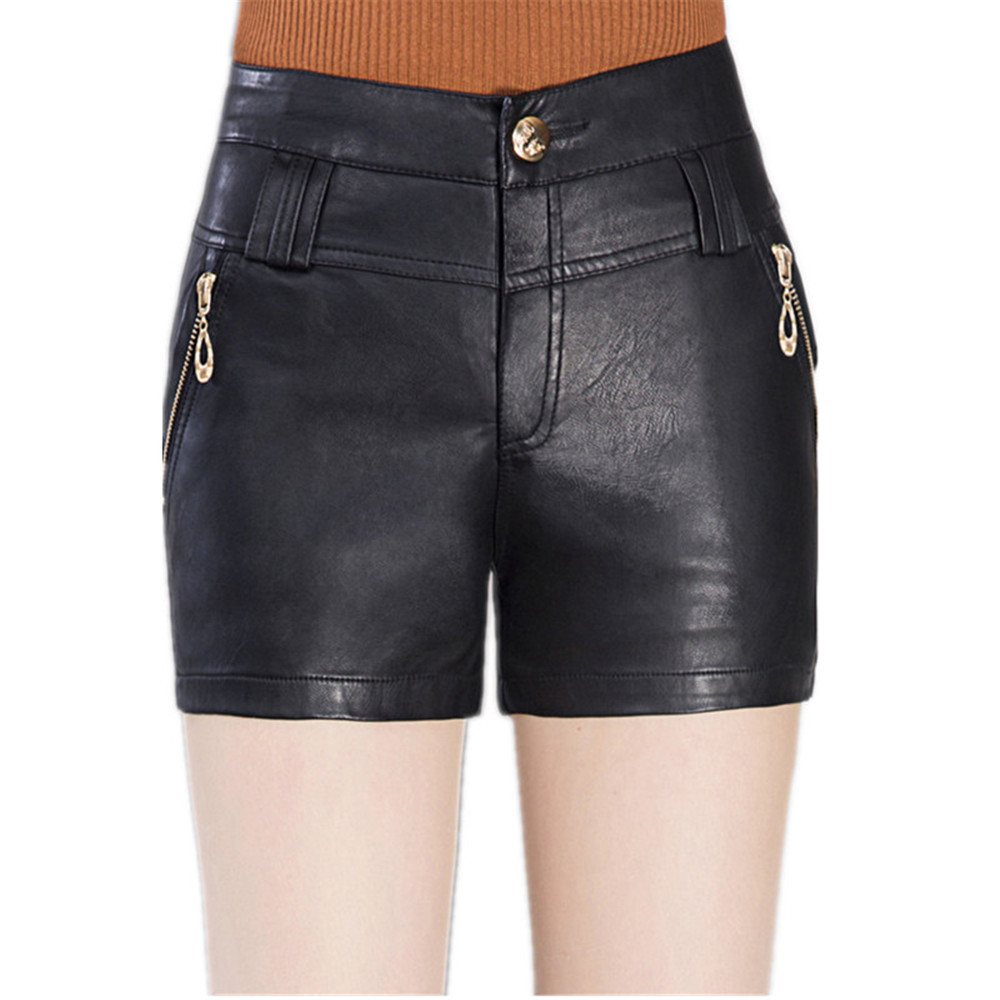 Compare Prices on Black High Waist Leather Shorts- Online Shopping ...