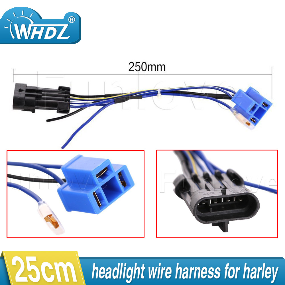 2017 led headlight wiring harness adapter for harley touring and trike 2014 2015 2016 7 daymaker led headlight [ 1000 x 1000 Pixel ]