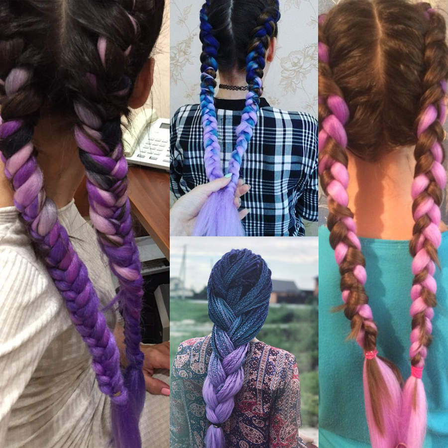 Saisity Crochet Hair Extensions Kanekalon Jumbo Braids Ombre