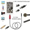 High quality 5 5MM USB endoscope Android camera 1 2 5 10m  flexible snake tube detection SmartPhone OTG endoscope camera 6LED discount