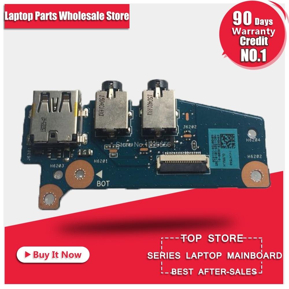 For asus laptop switch board GL552 GL552J GL552JX GL552 GL552V GL552VW notebook USB small board audio board x556u usb board for asus x556u x556uj x556ujq x556ub x556ua x555uv laptop dedicated rev 2 0 usb io board tested well