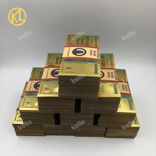 1000pcs/lot Zimbabwe One Hundred Trillion Dollars Gold Banknote With GOLD 999999 and watermarks by fedex tnt or UPS(China)
