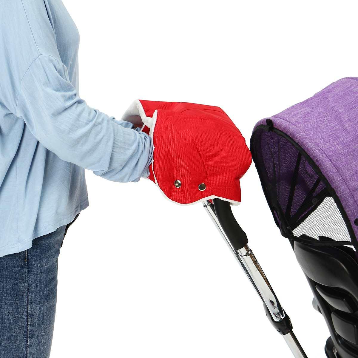 Winter Warm Stroller Gloves Kids Pushchair Hand Muff Waterproof Pram Mitten Baby Clutch Cart Thick Fleece Gloves