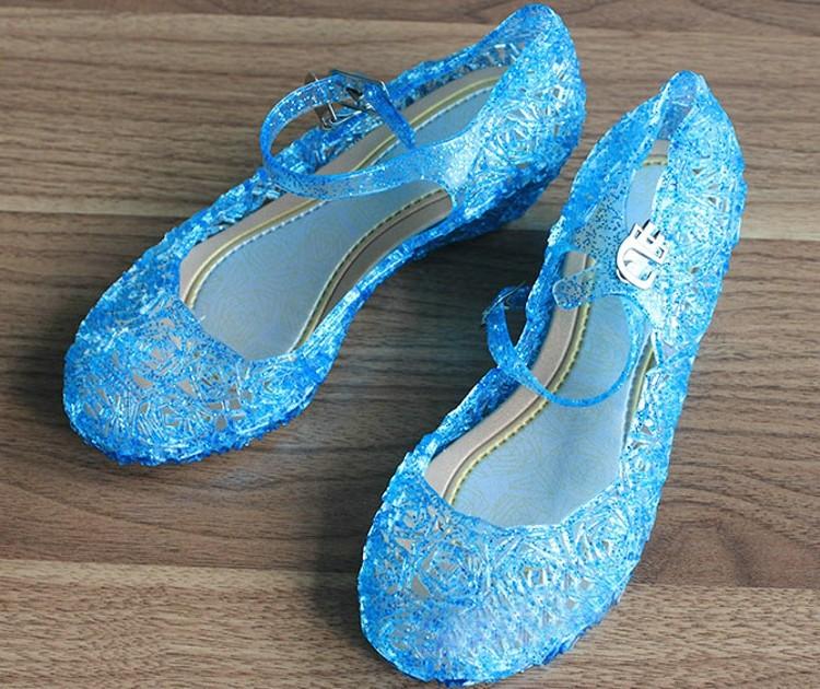 5e103745a9f488 2017 New Arrival Beautiful Girls Shoes Elsa Cinderella Costume Sleep ...
