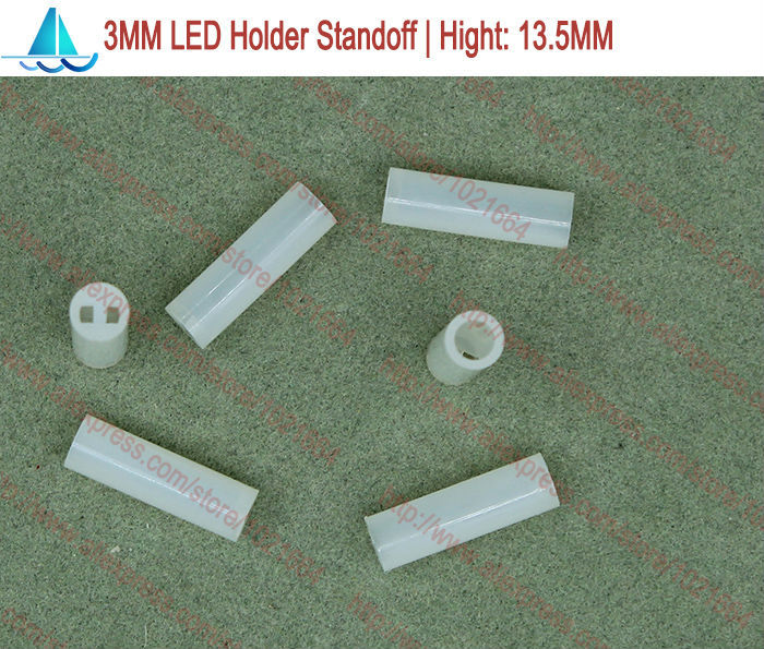 200pcs/lot  3MM LED Lamp Holder Hight:13MM Light Emitting Diode Spacer Support Standoffs