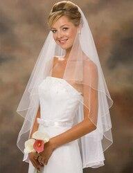 Wedding veil with comb short ivory white bridal veils cheap veu de noiva curto high quality.jpg 250x250