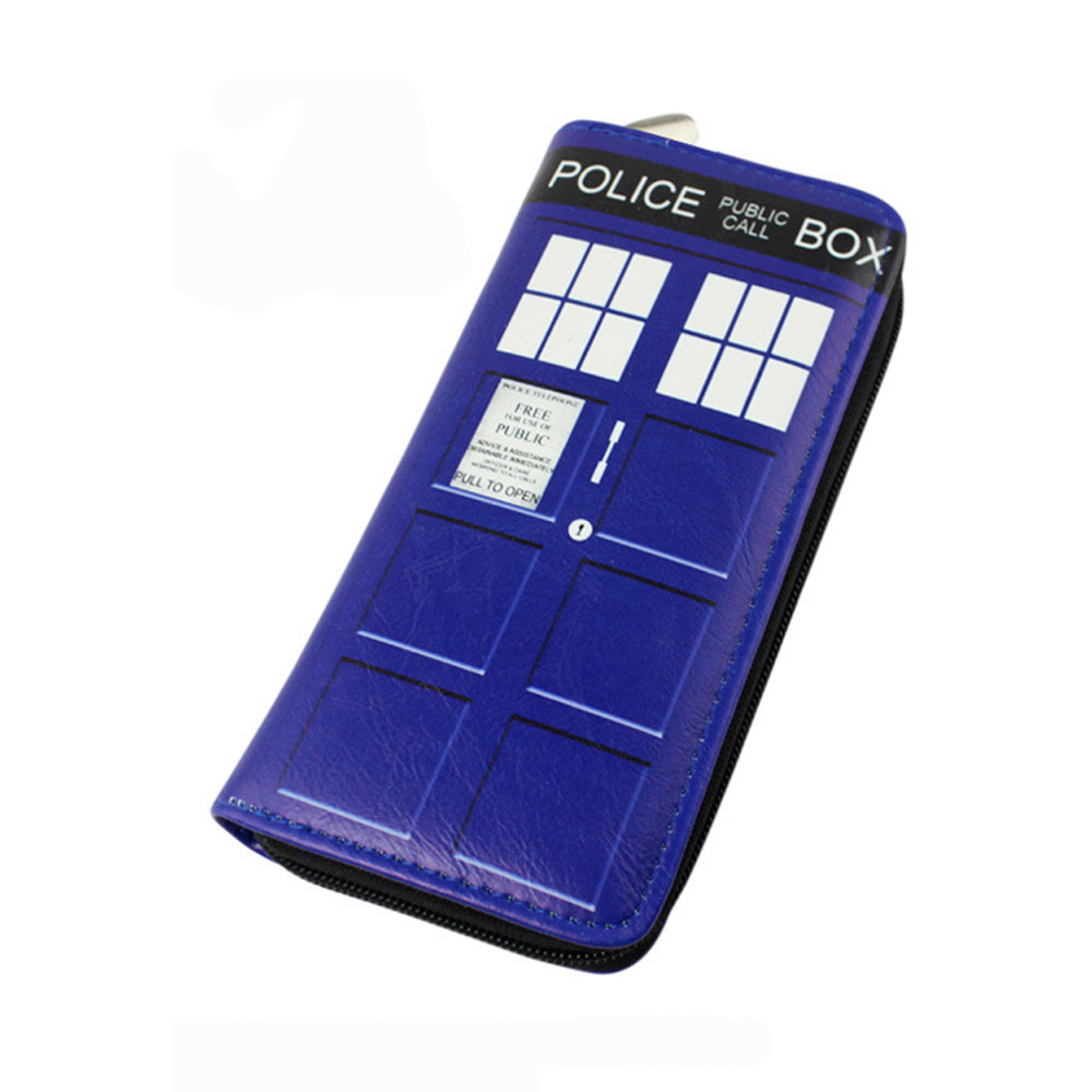 Doctor Who Wallet Dr Who PU Purse Toys Zipper Long Wallets Purses Tardis Cosplay Money bag gift Men Wallet L008 doctor who tardis adventure collection box set