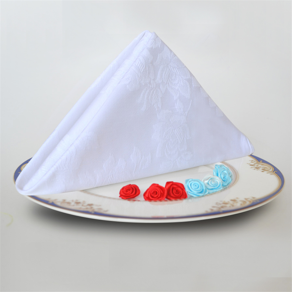 10pcs Western Dinner Serviette Cotton Table Napkin Hotel Folding Napkin Home Cloth Vintage Napkin Coffee Towel Table Decoration