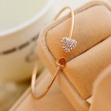 Подарок для подружки невесты, свадебный сувенир, браслет в форме сердца, стразы для невесты, свадебный подарок