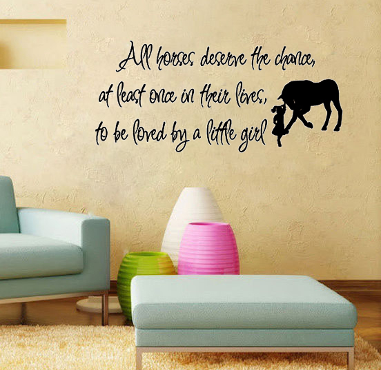 Living Room Wall Quotes: Aliexpress.com : Buy Love Horse Girls Vinyl Wall Quote