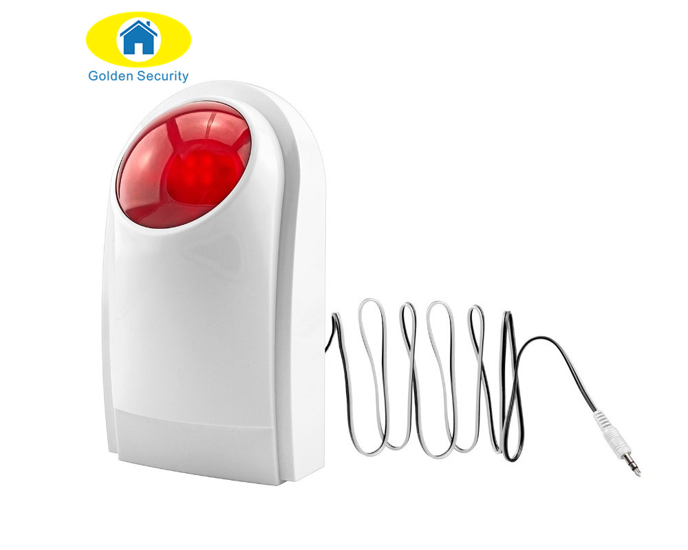 Golden Security Wired Indoor Intelligent Home Alarm Wired Outdoor Strobe Flash Siren For Wired GSM Alarm System Security Home