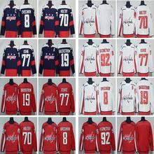 76c4b8a10 OKOUFEN hockey jerseys #8 Alex Ovechkin 19 Nicklas Backstrom 70 Braden  Holtby 77 T.J. Oshie