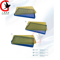 instrument disinfection box with stainless steel orifice + silica gel pad Sterilizing Trays 10006 size L M S