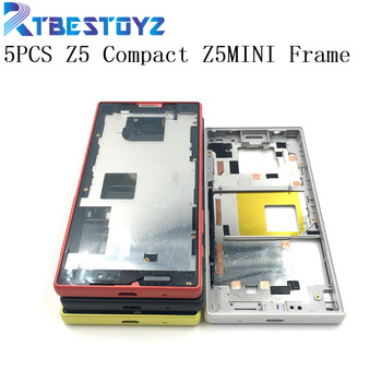 "RTBESTOYZ 5PCS 5.2"" For Sony Xperia Z5 Compact Middle Frame Bezel Front Plate Housing E5803 E5823 For Sony Z5 Compact Z5MINI"