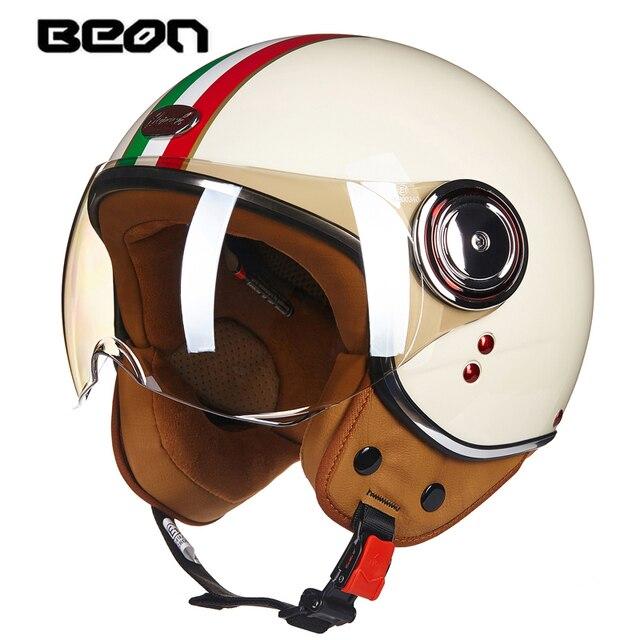 BEON 2016 motorcycle helmet ms.man semi covered type electric vehicle safety helmet helmet Prince Harley half helmet