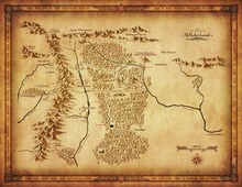 map middle earth lord of the ring silk poster art bedroom
