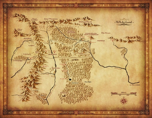 US $5.59 |Map of Middle Earth Lord Of The Ring Silk Poster Art Bedroom  Decoration 2765-in Wall Stickers from Home & Garden on Aliexpress.com |  Alibaba ...