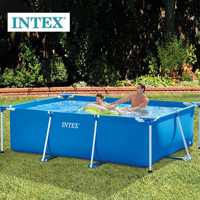 US $78.65 |Intex Frame Pools 260x160x65 CM Rectangular Frame Above Ground  Backyard Swimming Pool For Adult Kids-in Pool & Accessories from Sports &  ...