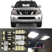12x белый авто светодиодный светильник лампы Интерьер комплект для Nissan Pathfinder 2005-20120 12V светодиодный Карта Купол фонарь освещения номерного знака автомобиля для укладки волос