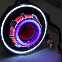 Pair 7 Inch Projector Headlights LED Demon Eye Headlights For Jeep Wrangler Jk CJ ( More color choose )