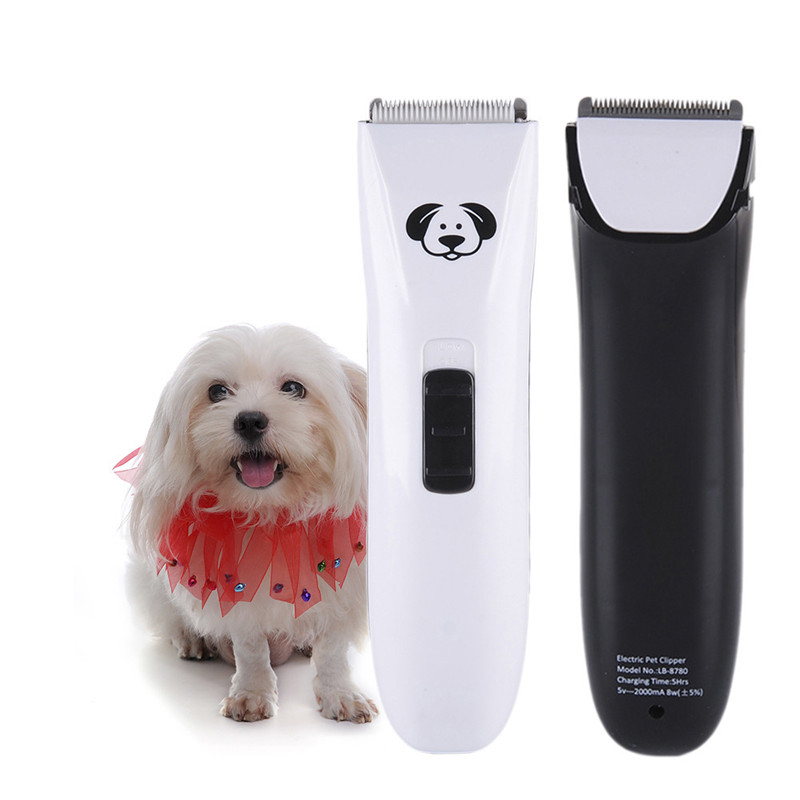 Electric Pet Clipper Cat Dog Hair Trimmer Rechargeable 8W Low Noise Animals Shaver Haircut Machine AU EU UK US 1Pcs ...