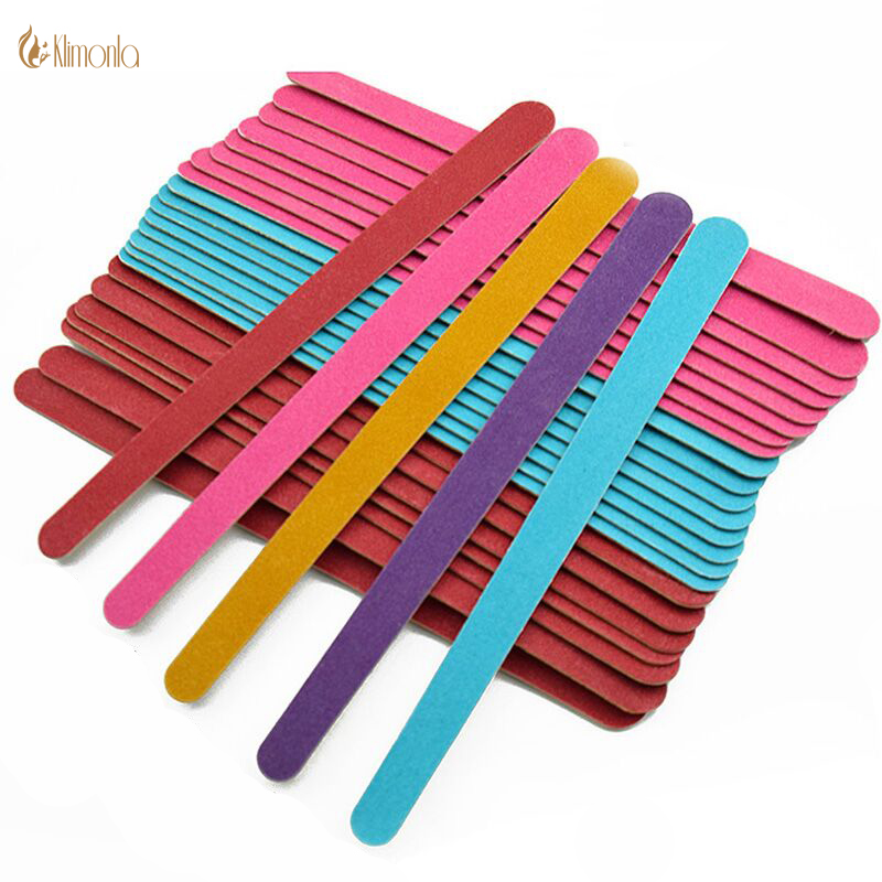 Wholesales 100pcs/lot Nail File Blocks Mix Colors 150 Grits Nail Art Sanding Buffing Polish Strips Manicure Pedicure For Salon
