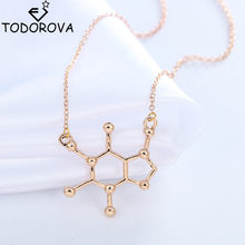 Женское Ожерелье в виде молекулы кофеина
