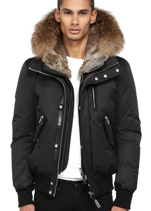 Down Bomber Jacket With Hood | Outdoor Jacket