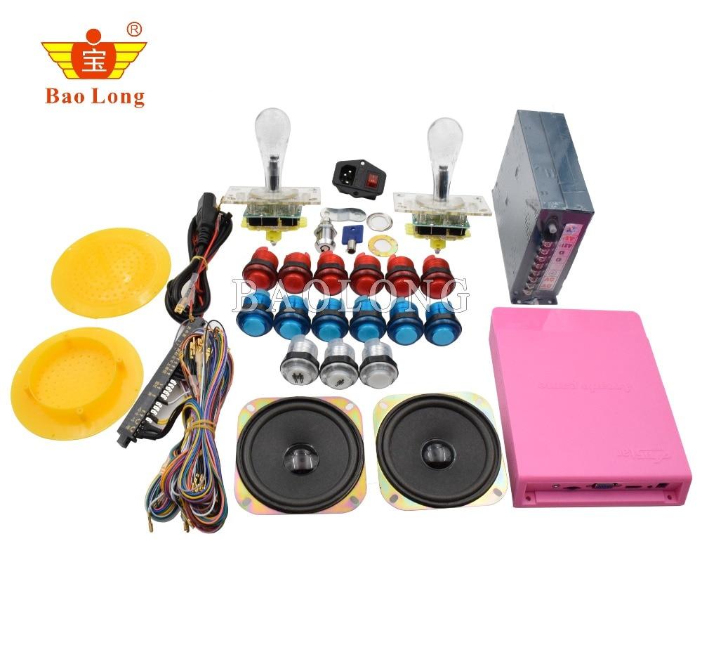 2018 offre spéciale Pandora Box 5 bricolage Arcade Kits pièces avec alimentation Jamma câble 5pin Joystick bouton-poussoir LED 1299 en 1