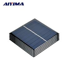AIYIMA 5pcs 4V 140MA Solar Panels Polycrystalline Solar Panels SunPower 70x70mm DIY Solar Battery Charger Painel Solars