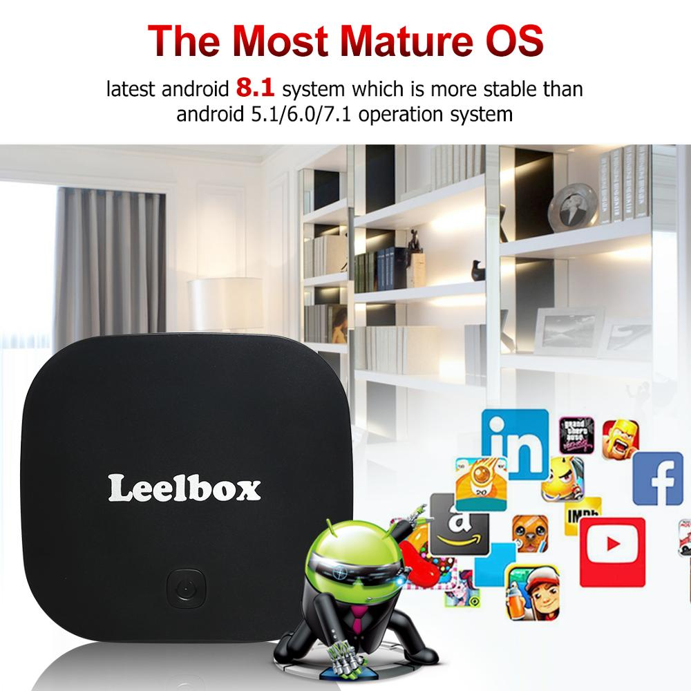 Leelbox Q2 PRO S Android8.1 TV Box RK3229 double-coeur 2 GB + 16 GB H.265 USD4.0 2.4 GHz Wifi Support Google Playstore Youtube dé