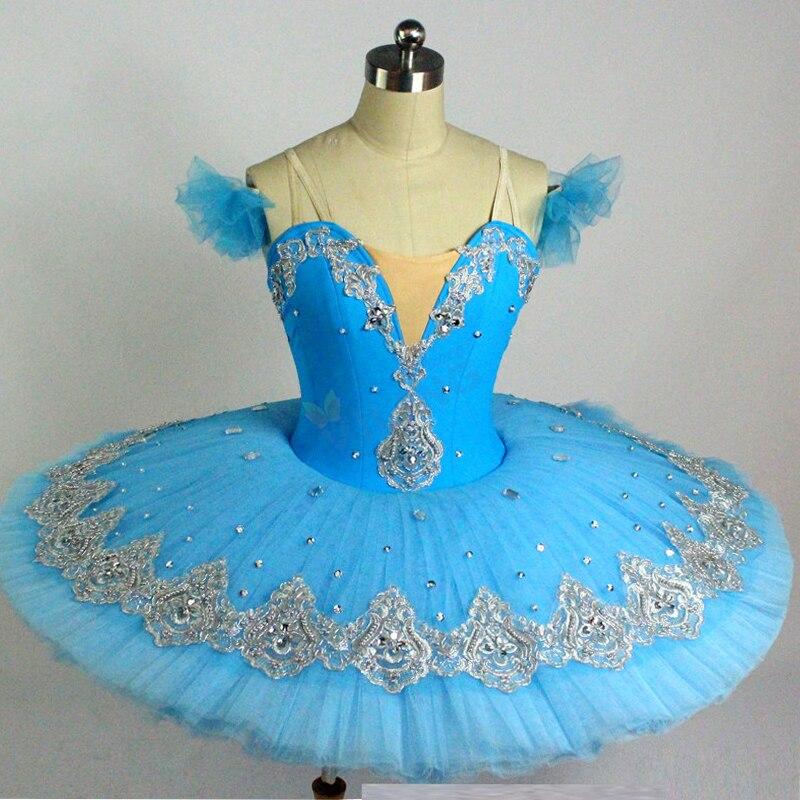 Ballet professionnel Tutus adulte lac des cygnes vêtements de danse Ballet filles crêpe Tutu enfant ballerine robe de patinage artistique DN2197