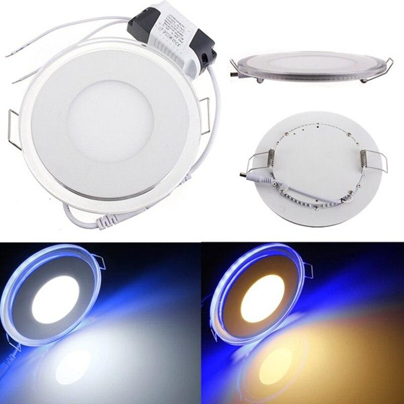 Круглый акриловый Светодиодная Панель 10 Вт 15 Вт 20 Вт LED потолочные встраиваемые свет для дома Гостиная Освещение в помещении