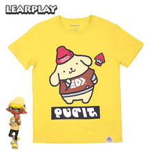 Splatfest Splatoon 2 Carnival Cotton T-shirt 2019 Summer Cinnamoroll Pompom Purin Tee Shirt Party Kids Adults Halloween Tops