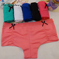 Rebantwa Lot 6 pcs Women Underwear Cotton Cute Panties Boxers Shorts Boyshorts Ladies Pink Lingerie Female Intimates Wholesale