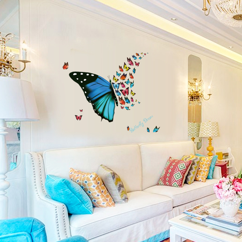 Butterfly Dreams Wall Stickers Living Room Corners Decals Decor Flying Poster DIY Home Decoration Paper In From