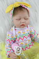 55cm Soft Body Silicone Reborn Girl Baby Doll