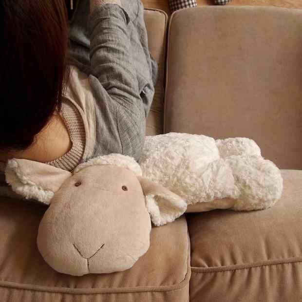 Nowy 1 sztuk spania owce pluszowa zabawka wysokiej jakości poduszka dla prezent urodzinowy dla dzieci złożyć jagnięciny w poduszki słodkie zwierząt poduszki
