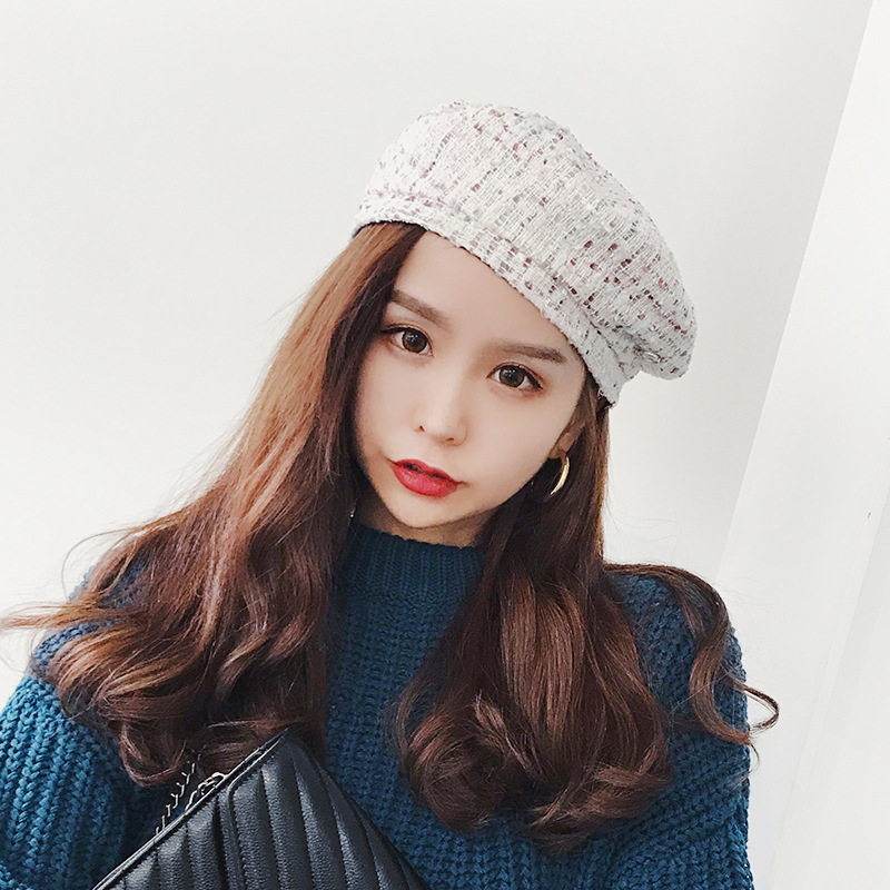 New Design Beret Christmas New Year Gift Winter All Matched Warm Walking Hat Women Plaid Hat