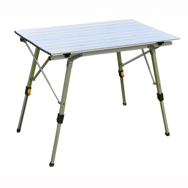 Aluminum Alloy Outdoor Folding Tables/Height Adjustable Barbecue Table  Durable BBQ Supplies