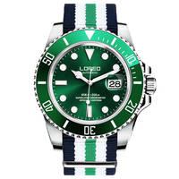 bf225f8fac30 LOREO 9201 Alemania relojes de lujo de los hombres auto-viento automático  200 m impermeable