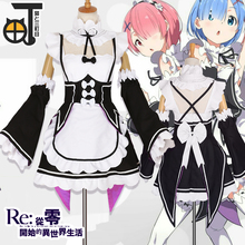 Free Shipping Rem Costume font b Anime b font Re Life In A Different World From