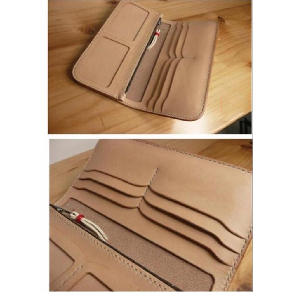 DIY leather craft multi pocket double photo position wallet die cutting knife mould hand punch tool set