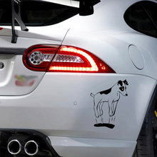ФОТО jump jack russell terrier dog personality funny car stickers cartoon vinyl decal car styling bumper decoration jdm
