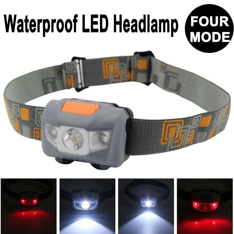 Mini 60x40x35mm 4 Mode Waterproof 600Lm CREE R3 2 LED Flashlight Super Bright Headlight Headlamp Torch Lanterna With Headband